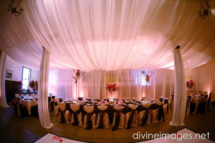 Elegant Wedding Reception Decoration | elegant wedding reception decor draping.