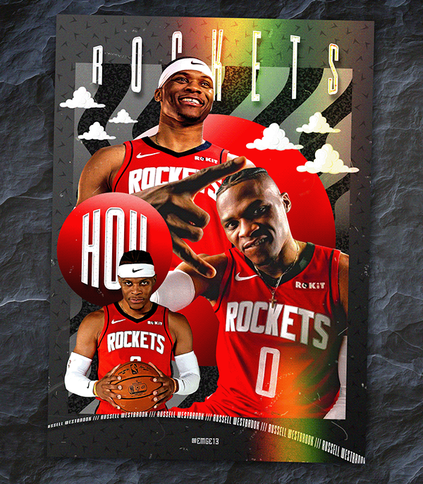Brodie Rocket Reflector Trading Card On Behance Sport Poster Design Rocket Nba Basketball Art