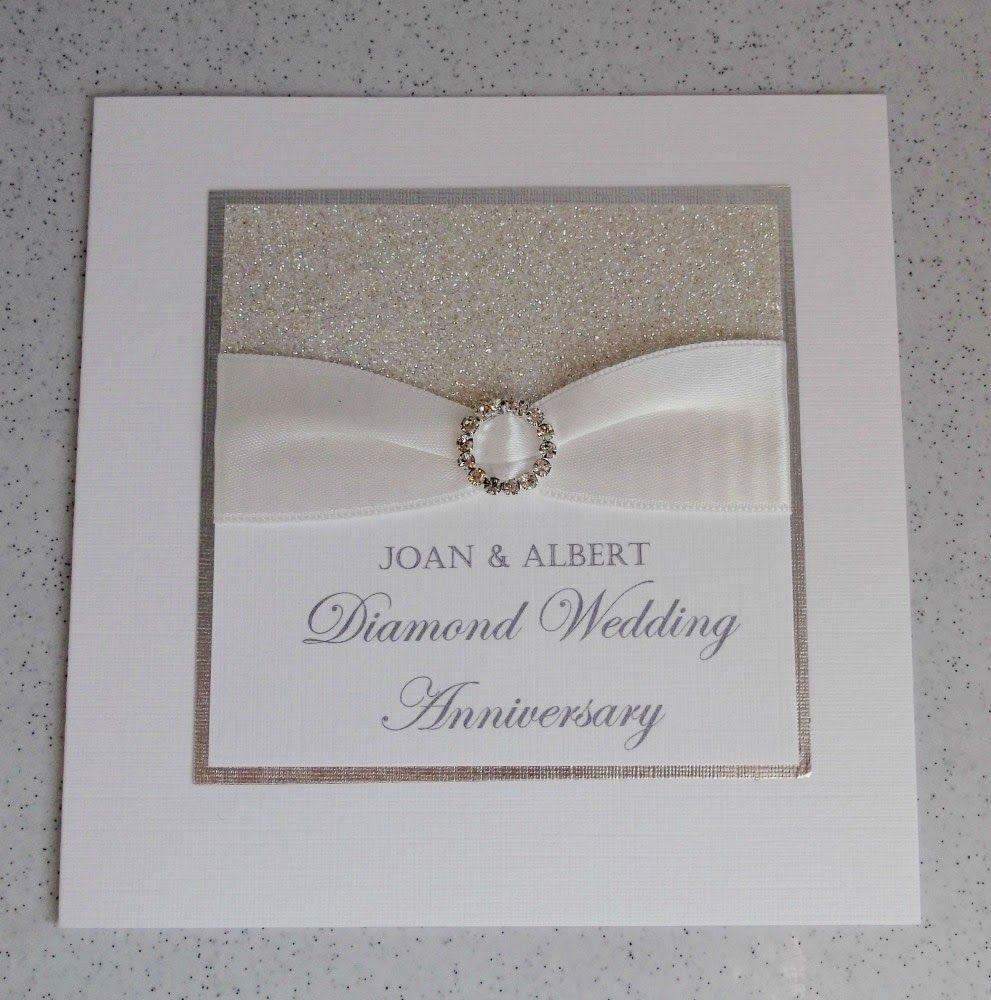 Silver diamond wedding invitations