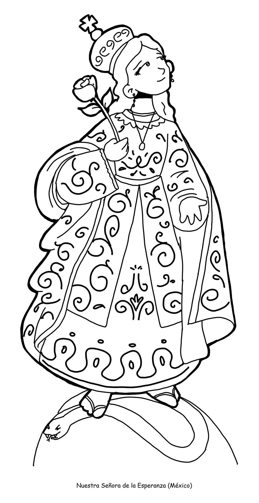 Nuestra Senora De La Esperanza De Jacona Para Pintar Coloring Pages All Saints Day All Saints