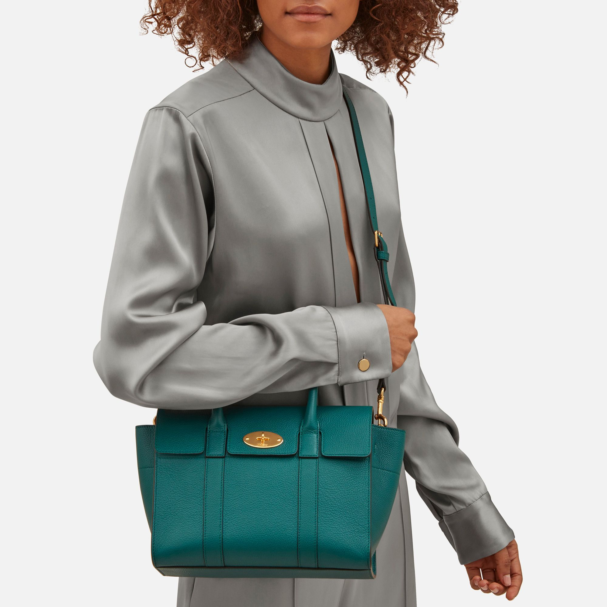 19d74086a5b Shop the Small New Bayswater in Ocean Green Leather at Mulberry.com. The  Bayswater is a Mulberry icon and has been one of our most popular styles  since it ...