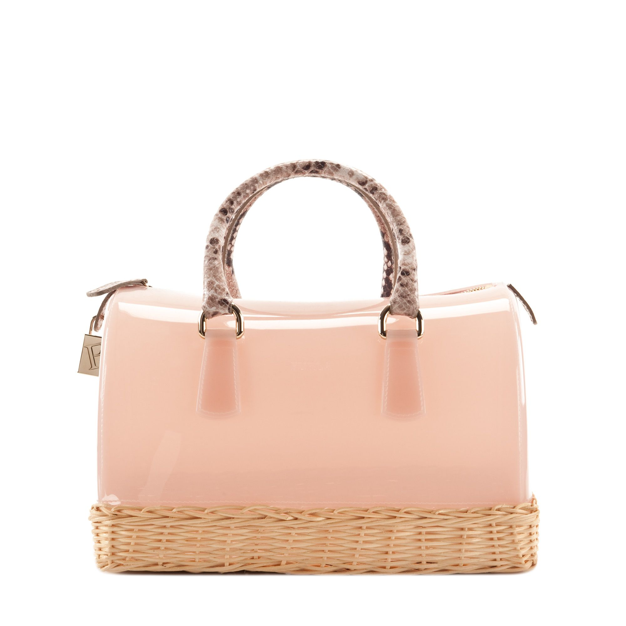 CANDY Satchel Rose, Natural shades Bags - Furla - United States