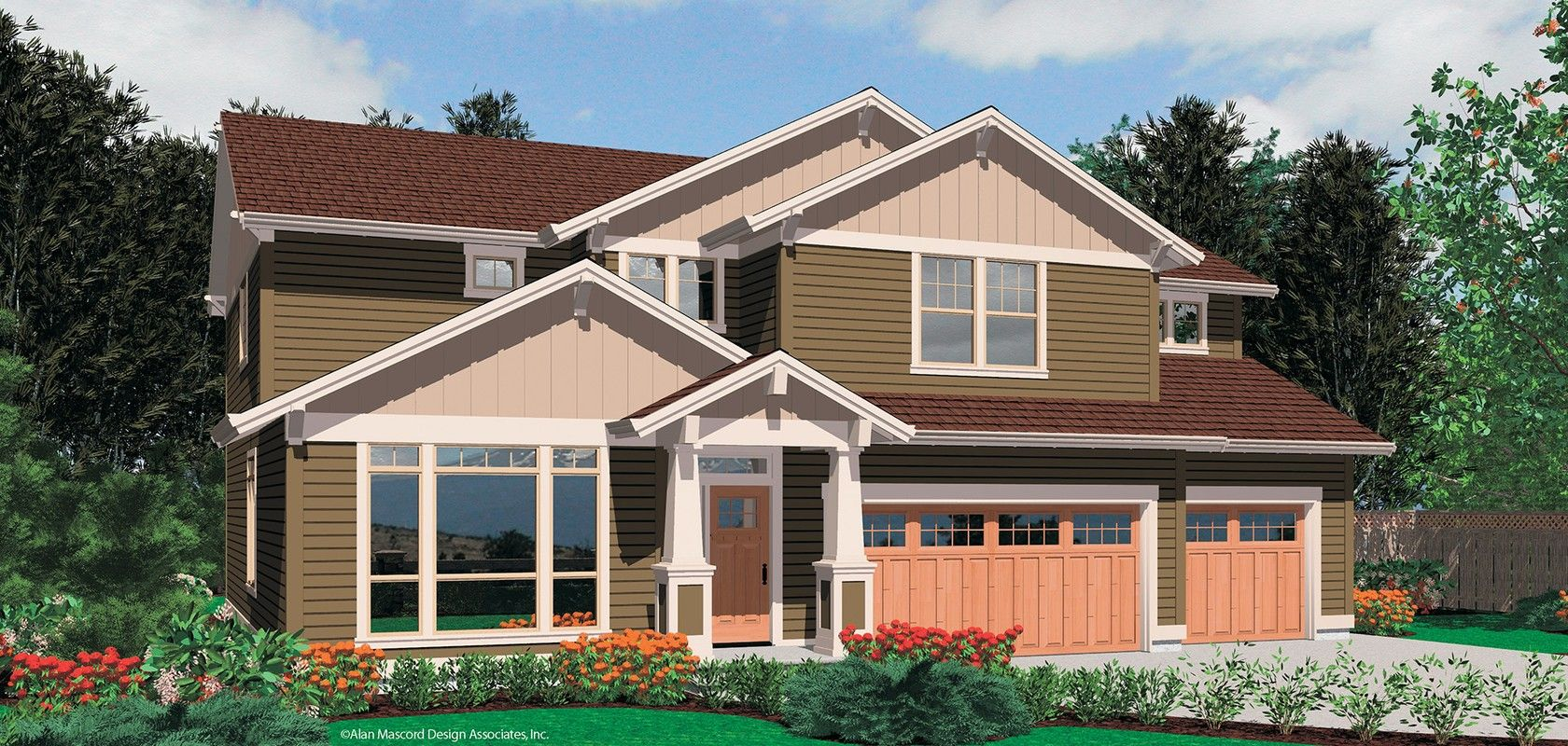 Mascord House Plan 22141 The Bakersfield