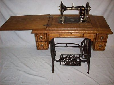 40 Year Old SEARS ROEBUCK BURDICK Treadle Sewing Machine Unique Old Singer Sewing Machine Values