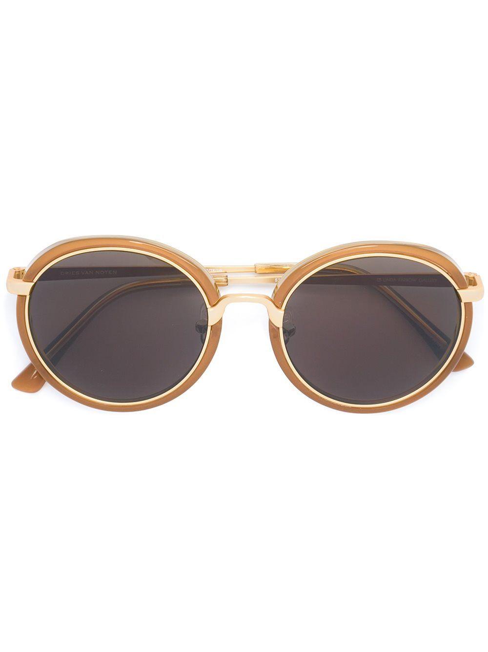 3a9ca5d1707 Linda Farrow round frame sunglasses