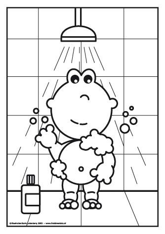 Frokkie staat onder de douche. - kleurplaten | Pinterest - Water ...