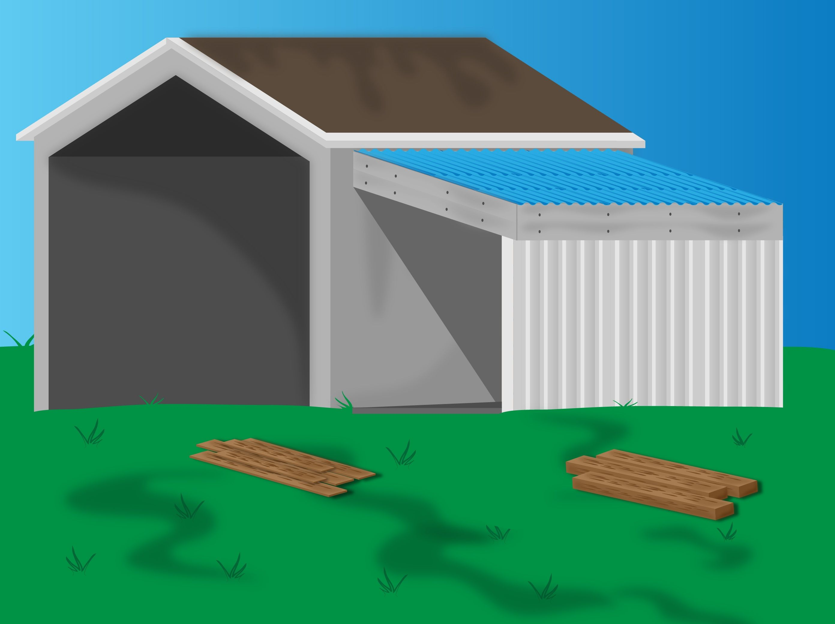 Add a lean to onto a shed storage walls and room for Building onto a house