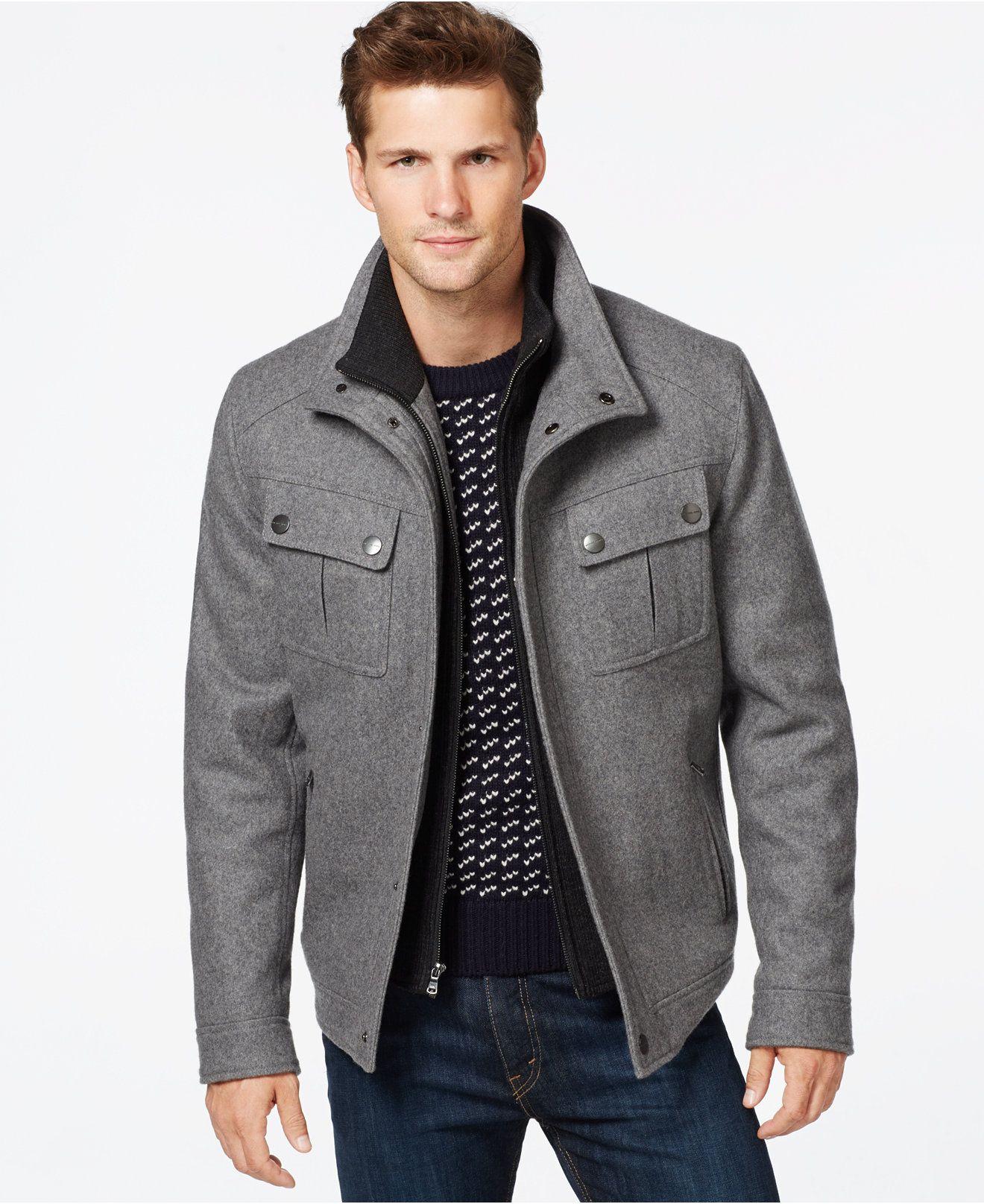 Michael Michael Kors Brockton Wool Blend Jacket Coats Jackets Men Macy S Stylish Jackets Wool Blend Jacket Twill Jacket [ 1616 x 1320 Pixel ]
