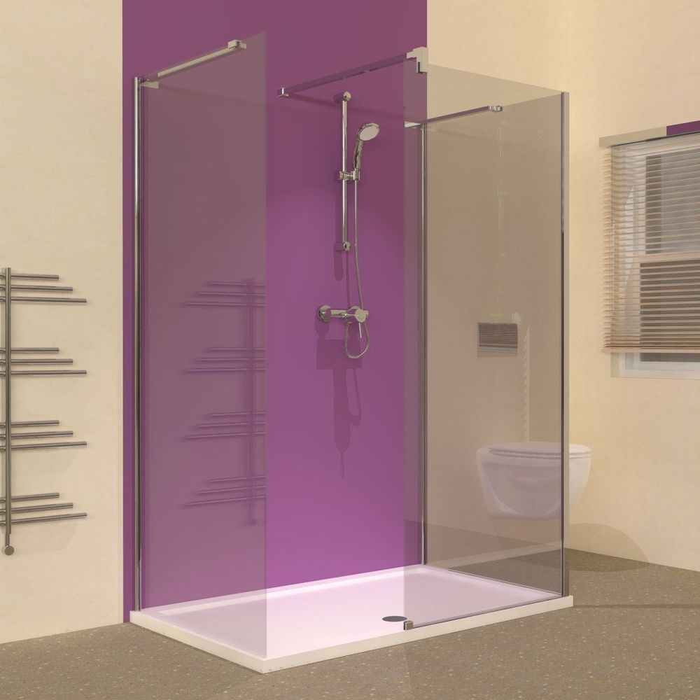 Line 1400 x 900 3 Sided Walk In Shower Enclosure With Tray ...