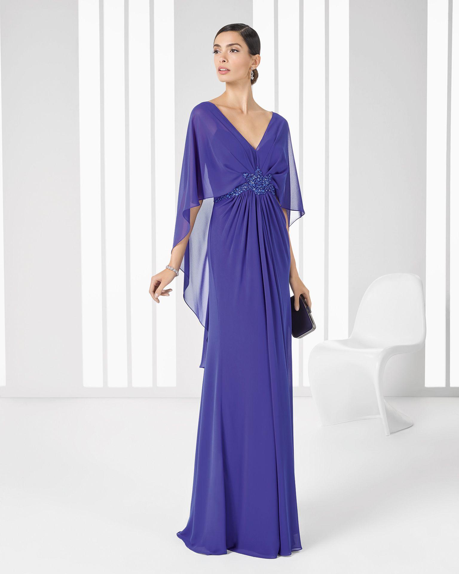 Vestido morado con tapado incluido. Código: 9T158 | Moda | Pinterest ...