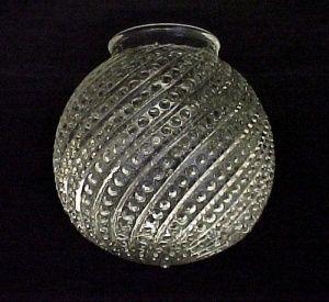 Bead Swirl Clear Glass 3 1 4 X 6 Ball Globe Light Shade