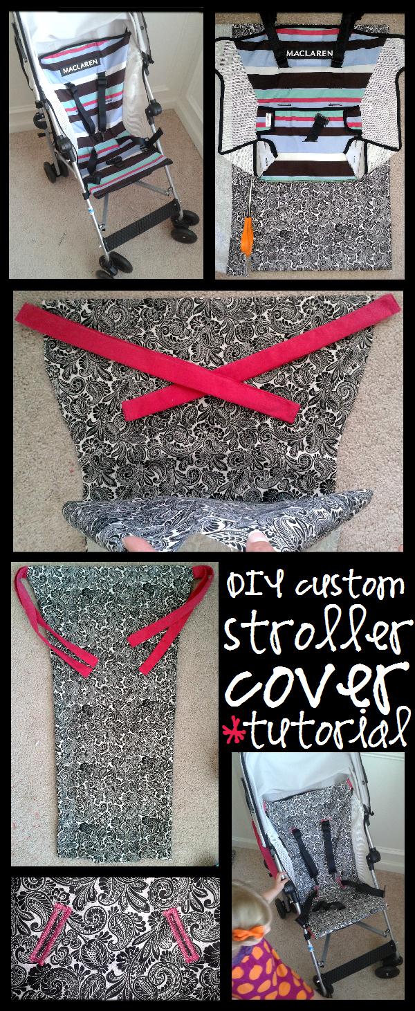 Easy Picture Tutorial Umbrella Stroller Seat Cover