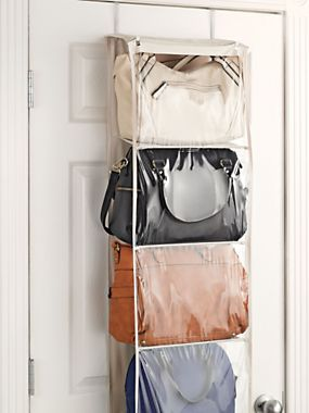 Over Door Purse Organizer   Back Of Door Storage For Handbags   How To  Store Purses | Solutions