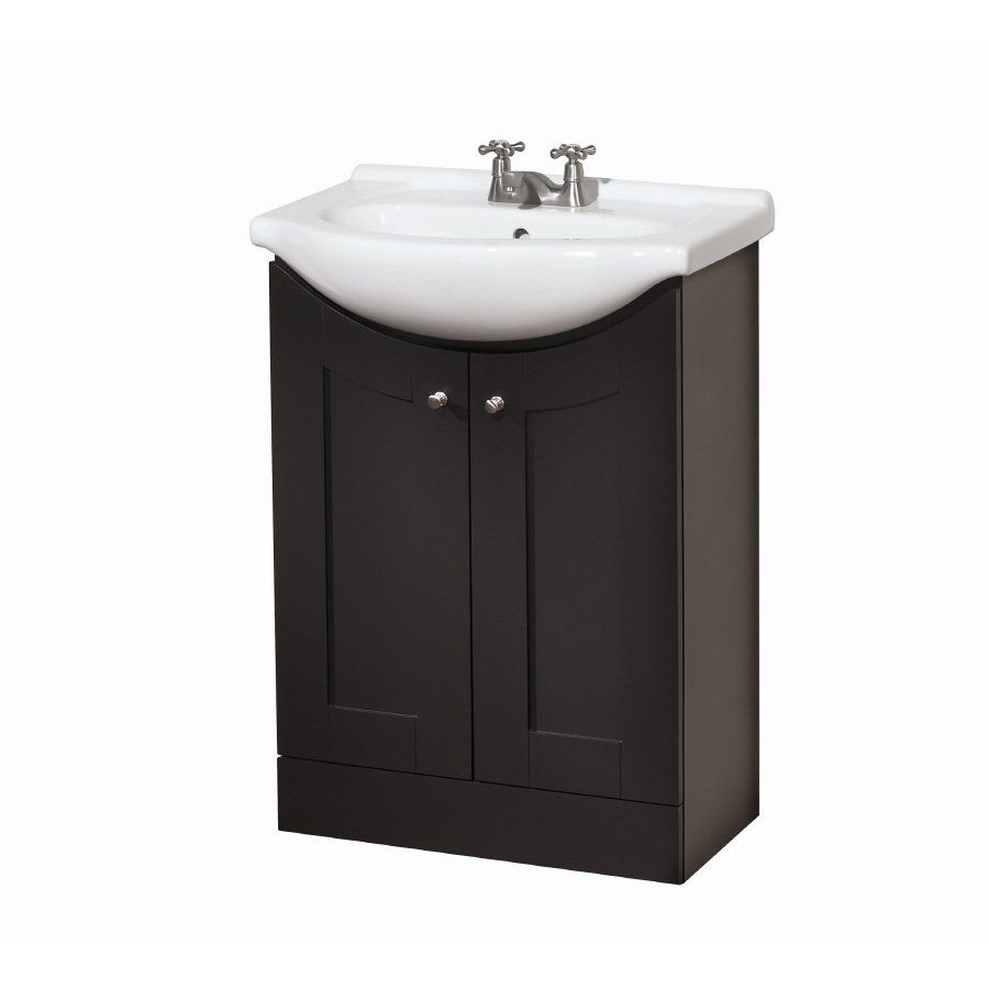 style selections 4166 24 eurostone shaker bath vanity with on lowes vanity id=27703
