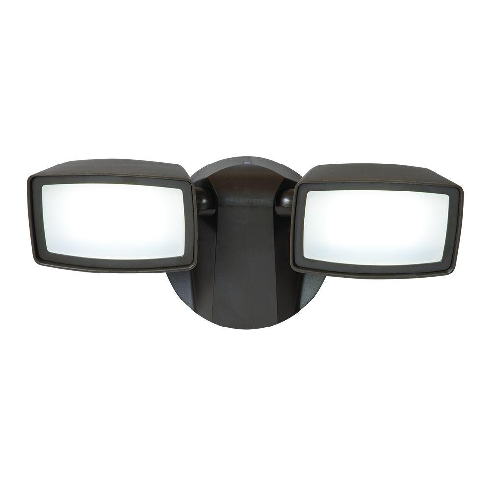 Bronze Outdoor Dusk-to-Dawn Integrated LED Flood Light   LED, Home ...