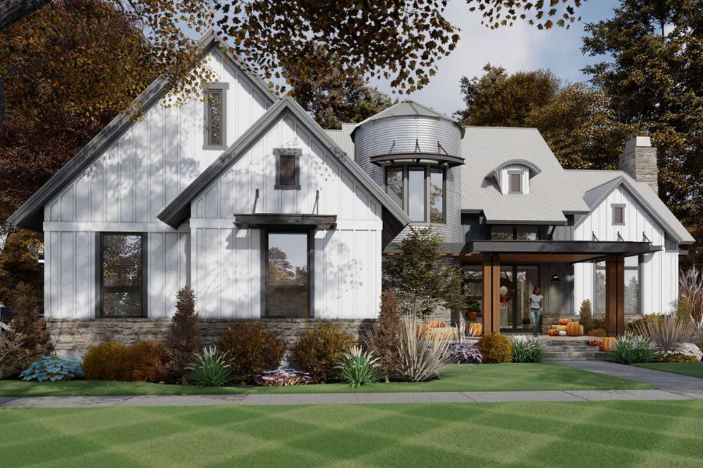 House Plan 9401-00107 - Modern Farmhouse Plan: 2,425 ...