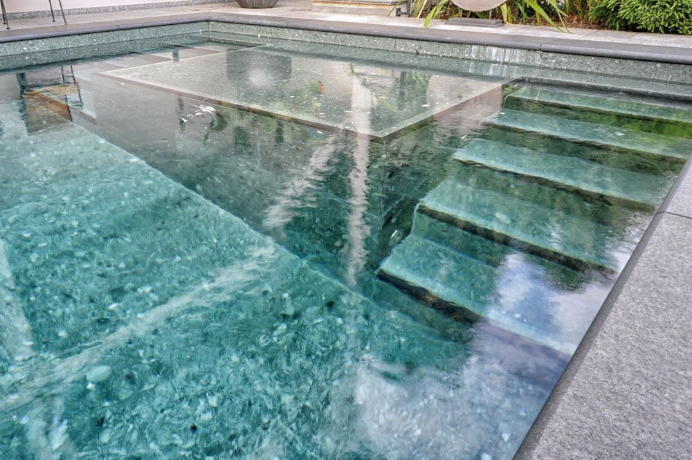 Flooring in flamed onsernone granite covering in green for Hardwood flooring zimbabwe