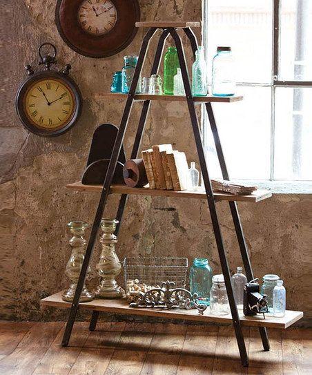 Recycled Wood & Metal Shelf