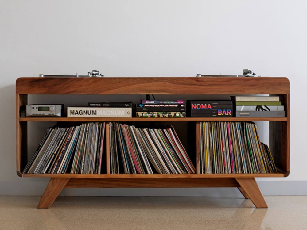 Handmade Turntable And Record Cabinet Devinyl Dj Station In 2020