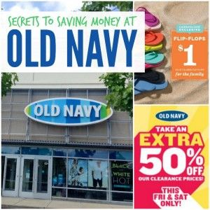 old navy savings secrets collage