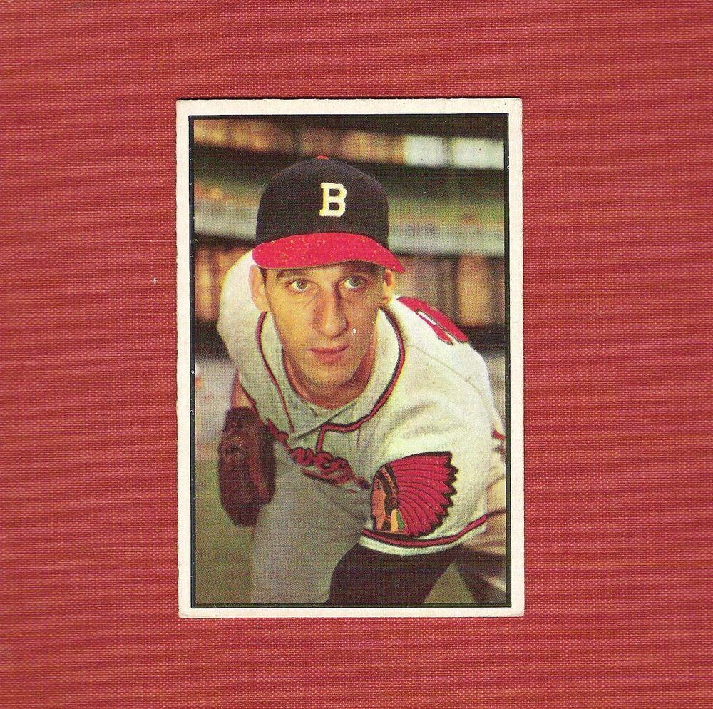 1953 Bowman Baseball Card Warren Spahn 99 A Beauty