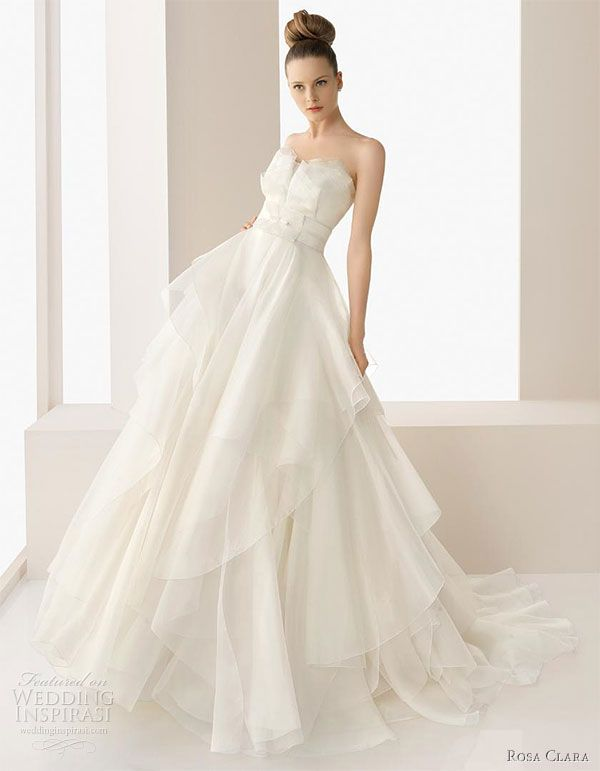 Rosa Clara 2017 Wedding Dress Collection Elsa Silk Organza Gown Embellished With Hemsches As