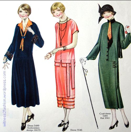Dresses for Teens and Young Women, October 1924