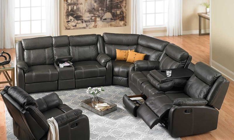 Cache Reclining Storage Sectional Sectional Sofa With Chaise