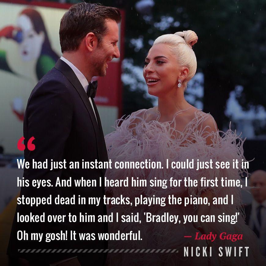 Lady Gaga And Bradley Cooper Lady Gaga Quotes A Star Is Born Lady Gaga