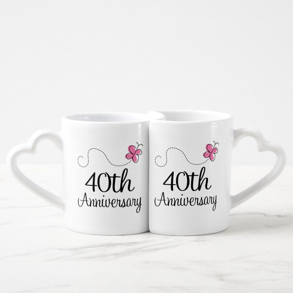 40th anniversary couples mugs in 2020 20th anniversary