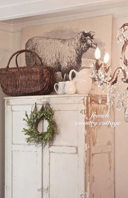 Photo of Farmhouse Sheep Artwork – French Country Cottage