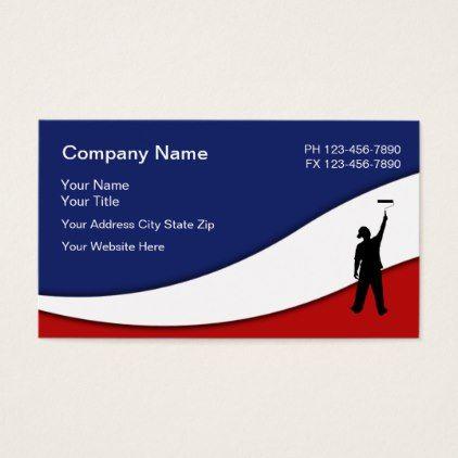Patriotic House Painter Design Business Card Simple Clear Clean Style Unique Diy