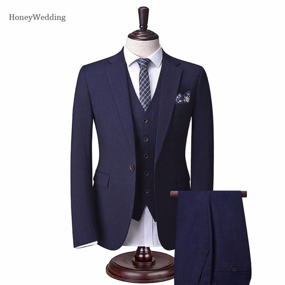 New designs notch lapel groom tuxedo single breasted customizable
