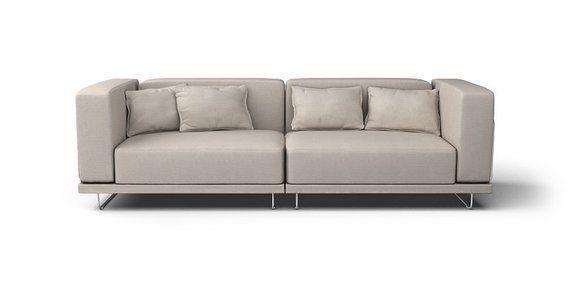 Hoekbank Ikea Tylosand.Ikea Tylosand 3 Seater Sofa Slipcover Only In Lino Brushed