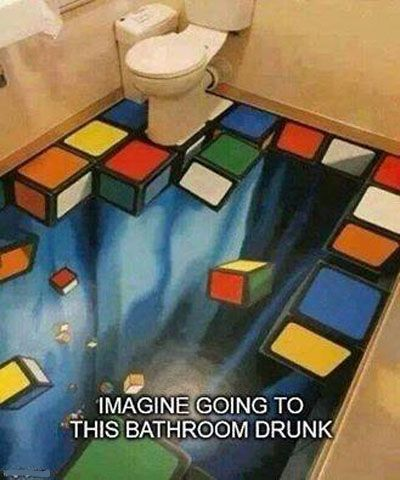 Unique Bathroom Tiles #Bathroom, #Drunk, #Funny, #Imagine