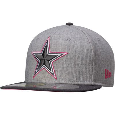 844379f53 Cowboys New Era Breast Cancer Awareness On-Field 59FIFTY Fitted Hat – Gray    Graphite  nfl  dallascowboys  breastcancerawareness