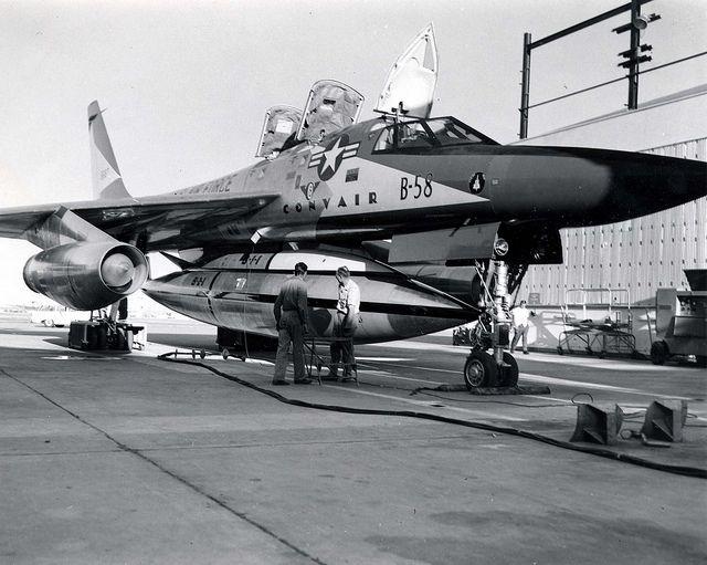 Convair YB-58A Hustler by D. Sheley, via Flickr