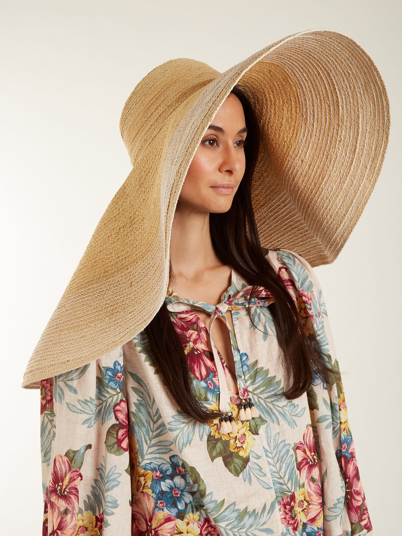 5f4d40bb04a19c Click here to buy Lola Hats Extra-wide brim raffia hat at MATCHESFASHION.COM