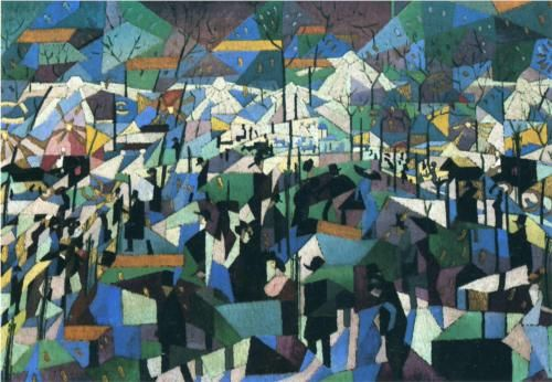 The Boulevard - Gino Severini 1911