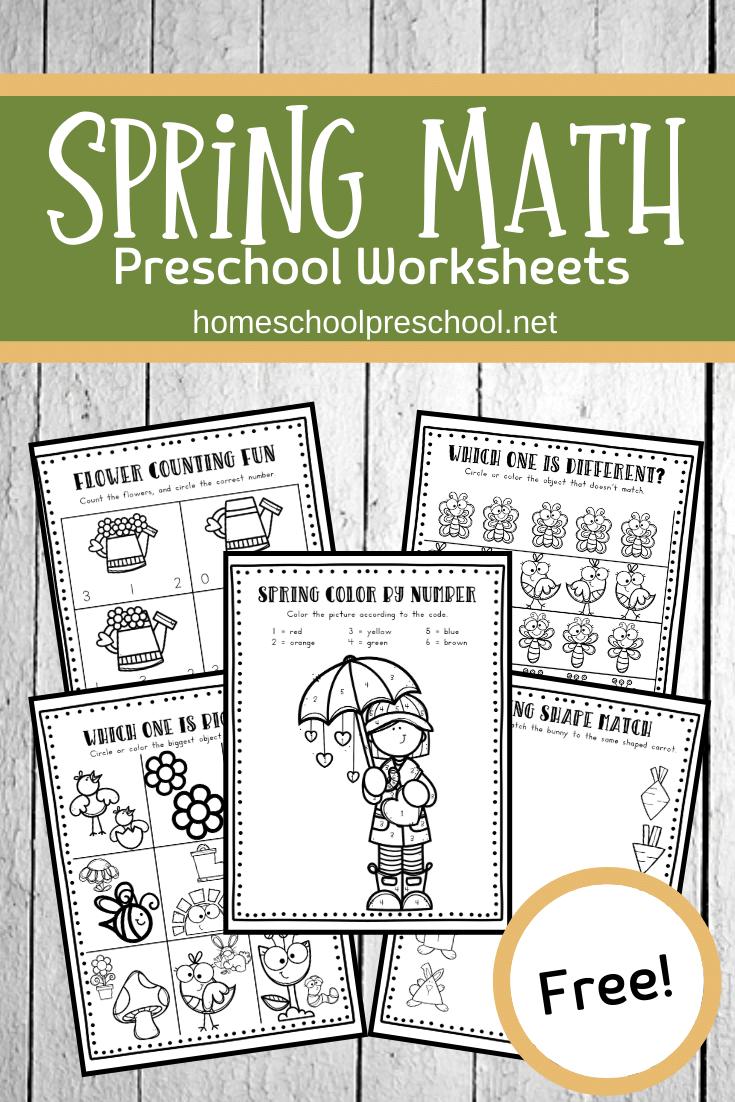 Spring Math Worksheets Spring Math Activities Preschool Spring Math Spring Math Worksheets [ 1102 x 735 Pixel ]
