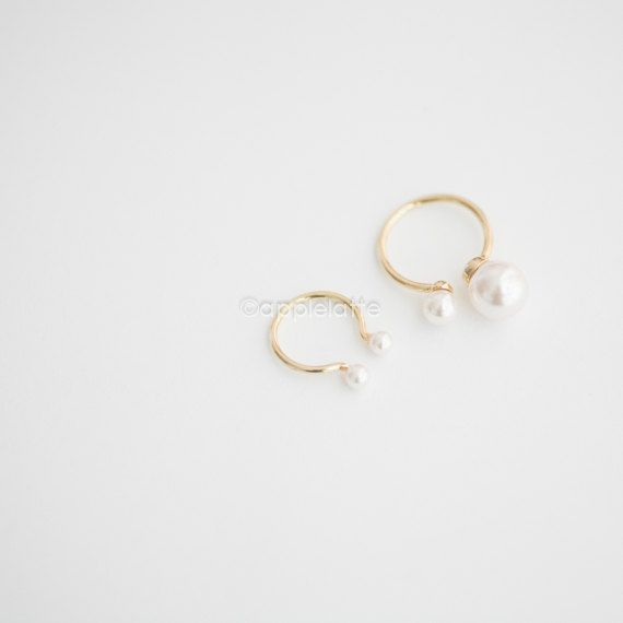 double pearls ring two pearl ring pearl knuckle by applelatte