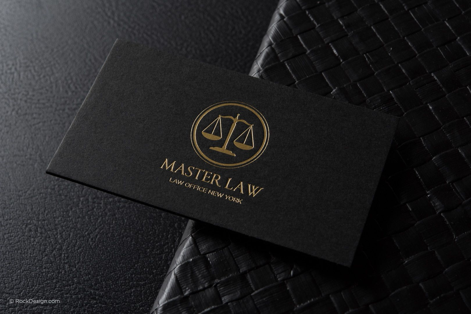Classic Modern Black Duplex Attorney Business Card Template