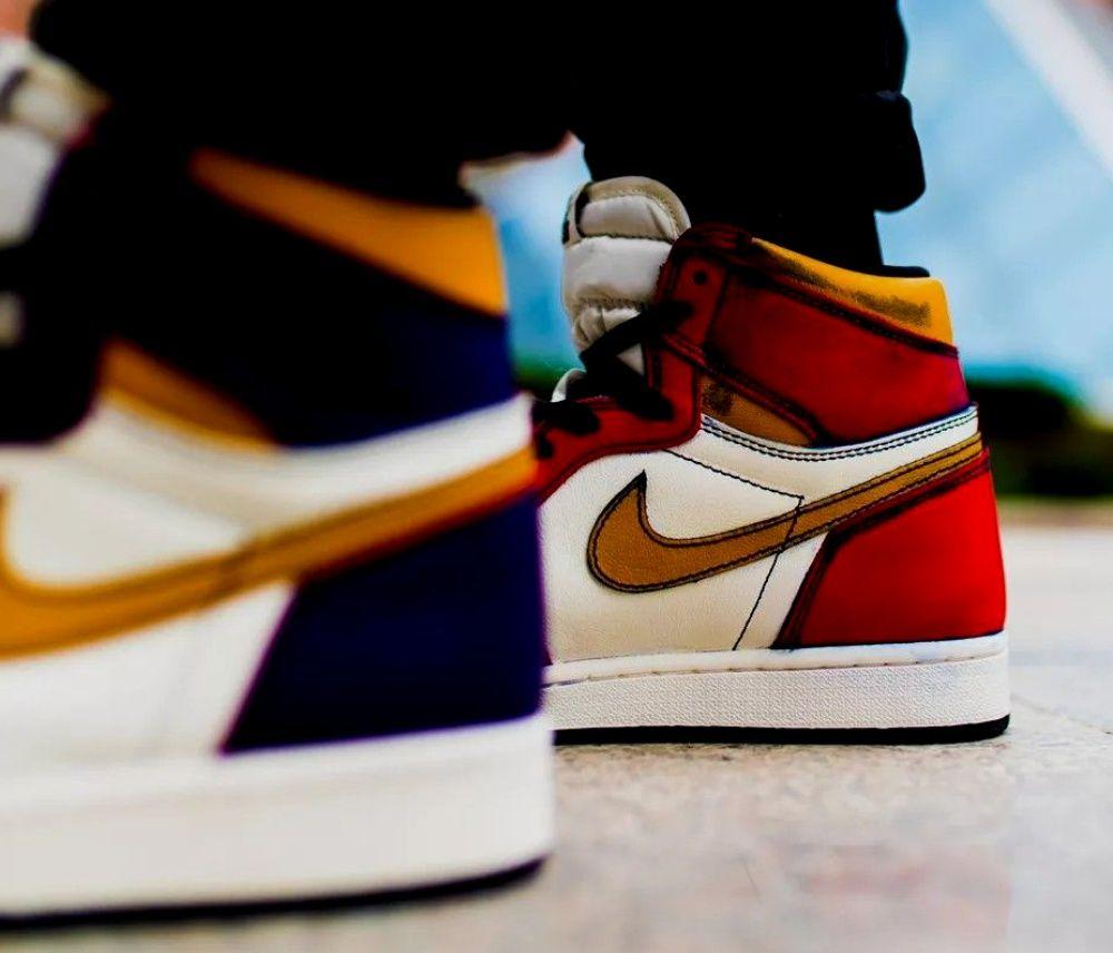 Jordan 1 Retro High Og Defiant Sb La To Chicago In 2020 Jordan Casual Shoes Air Jordans Sneakers Men Fashion