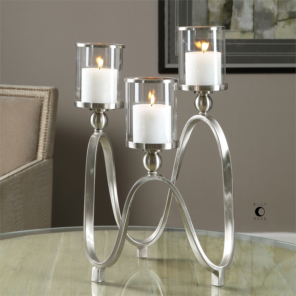 Delicieux Akiro Modern Nickel Candelabra   Premier Home Decor