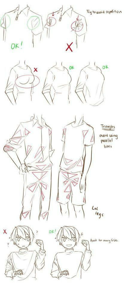 Drawing Clothes : Avoiding Mistakes
