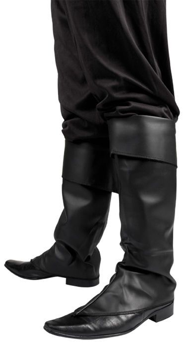 Mens Black Fancy Dress Costume Boot Top Covers Santa Medieval Peter Pan Pirate  sc 1 st  Pinterest & Mens Black Fancy Dress Costume Boot Top Covers Santa Medieval Peter ...