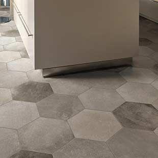 Carrelage gris Desvres patchwork