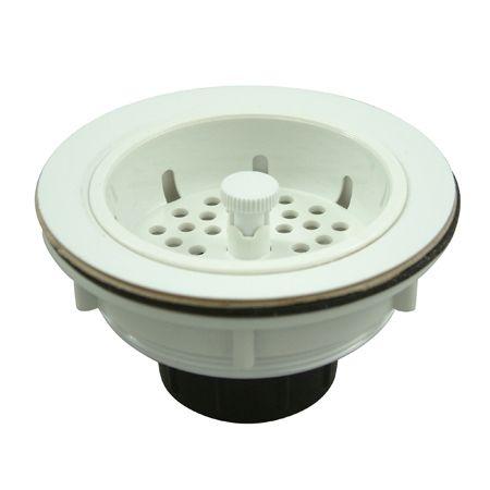 Kingston Brass BSP1011 Gourmetier Gourmetier BSP1011 Kitchen Sink Strainer White