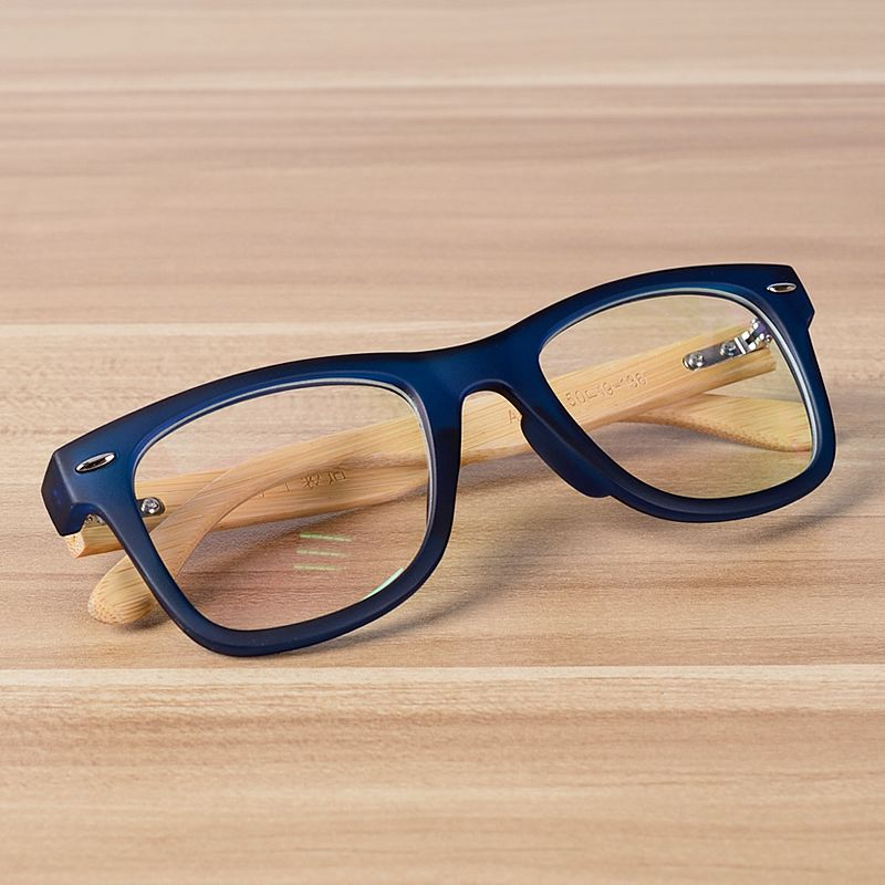 NOSSA Handmade Bamboo Clear Frame Glasses Women And Men\'s Classic ...