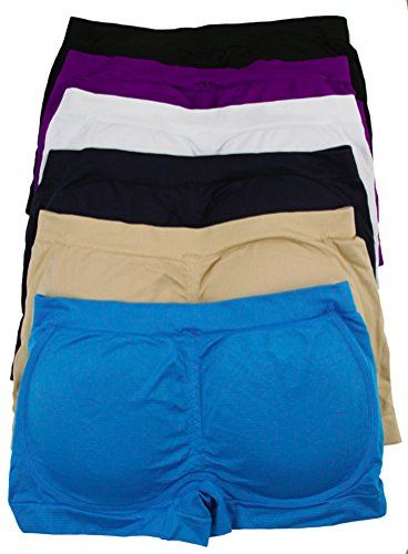 ToBeInStyle Women's Pack of 6 Padded Boyshorts *** Click image for more details.